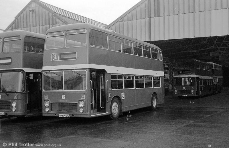 898 (WHN 419G), a Bristol VRT/ECW H39/31F, formerly United Auto 609, at Swansea.