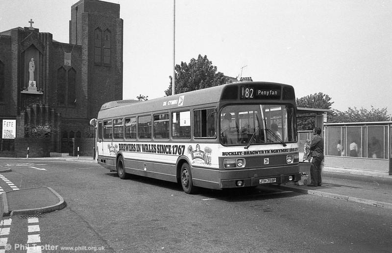 759 (JTH 759P), a Leyland National B52F at Llanelli.