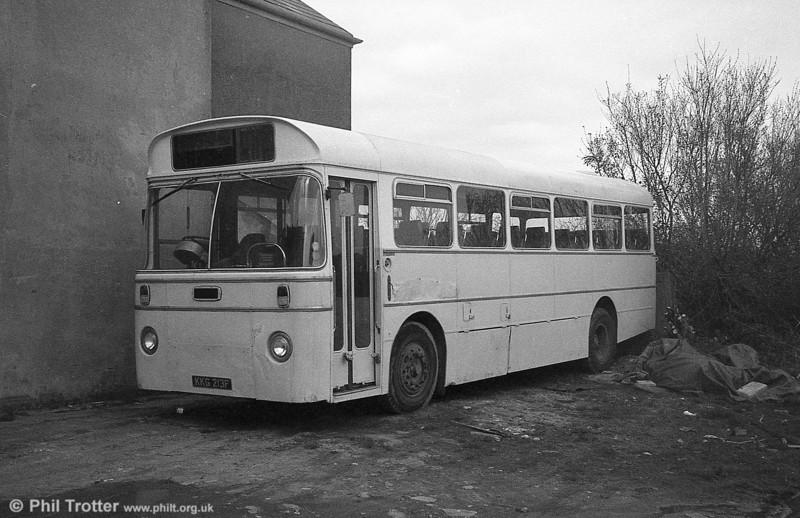 AEC Reliance/Marshall DP41F 213 (KKG 213F), ex-Western Welsh.