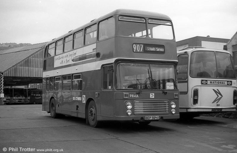 Bristol VRT SL3/ECW H43/31F 984 (BEP 984V) at Brunswick St.