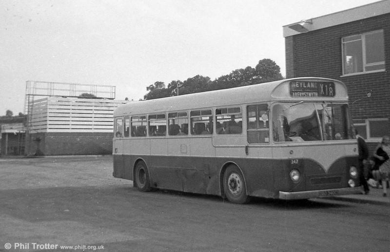 347 (DBO 340C), a Leyland Tiger Cub / Park Royal DP41F , ex-Western Welsh at Haverfordwest.