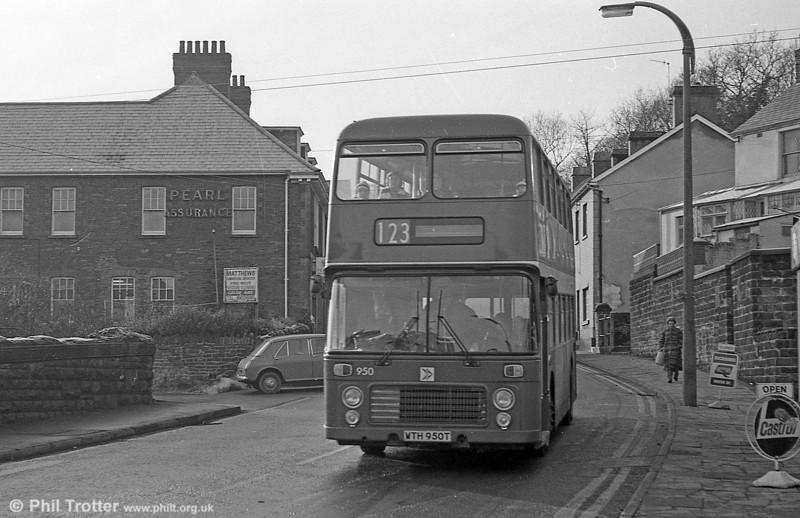Bristol VRT SL3/ECW H43/31F 950 (WTH 950T) at Pontardawe.