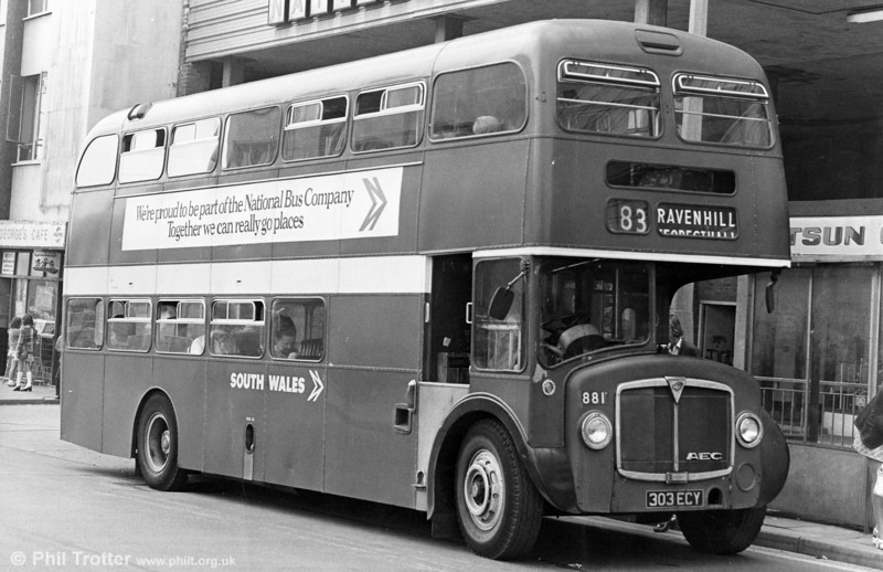 AEC Renown/Park Royal H39/32F 881 (303 ECY) (ex-1240) in Swansea.
