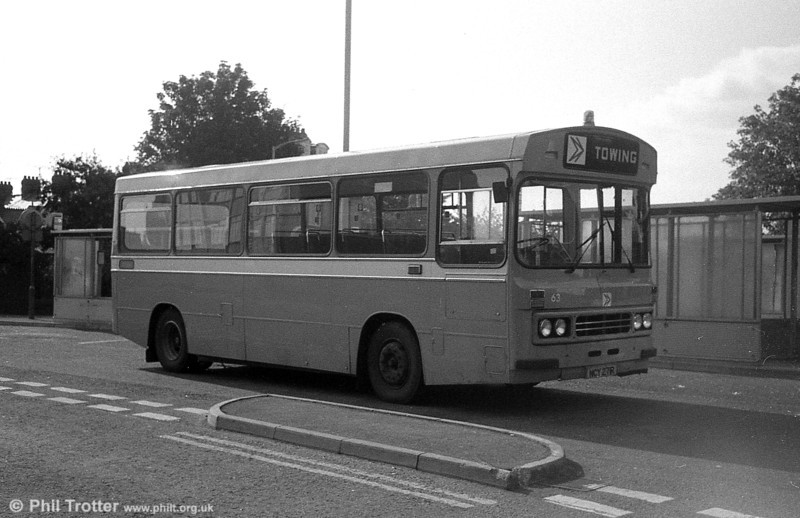 Ford R1014/Duple B43F 271 (NCY 271R) cut down for use as a towing bus at Llanelli.
