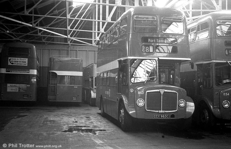1965 AEC Regent V/Willowbrook H37/27F 863 (CCY 983C) at Ravenhill.