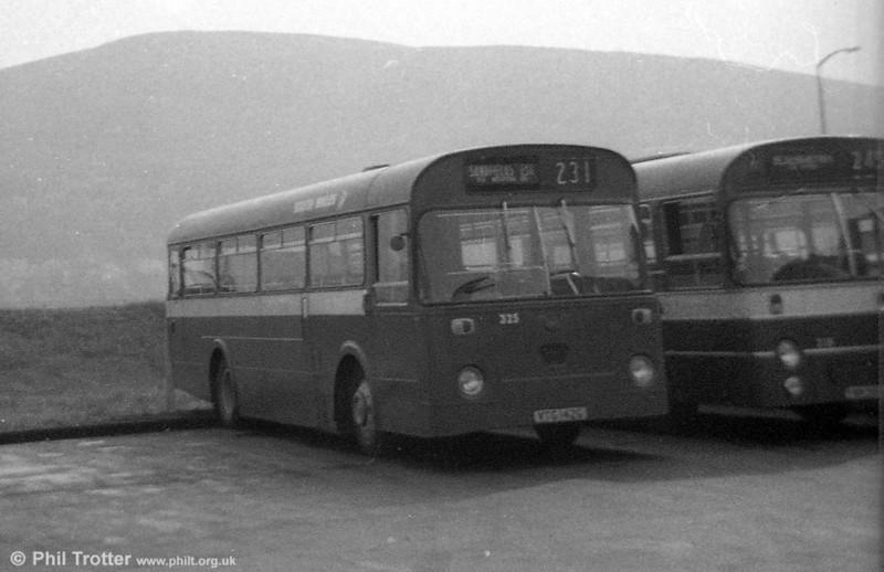 Leyland Leopard PSUC1/Marshall B45F 325 (VTG 142G) ex-Thomas Bros., at Port Talbot.