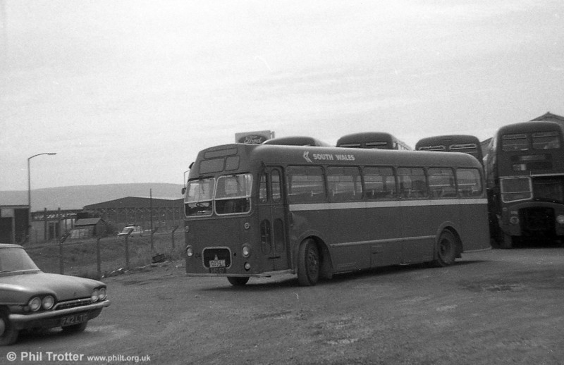 Former Red & White Bristol MW6G /  ECW B45F 259 (later 559) (SWO 97) in use as a towing bus at Port Talbot. This was fomerly Red & White's U.1657.