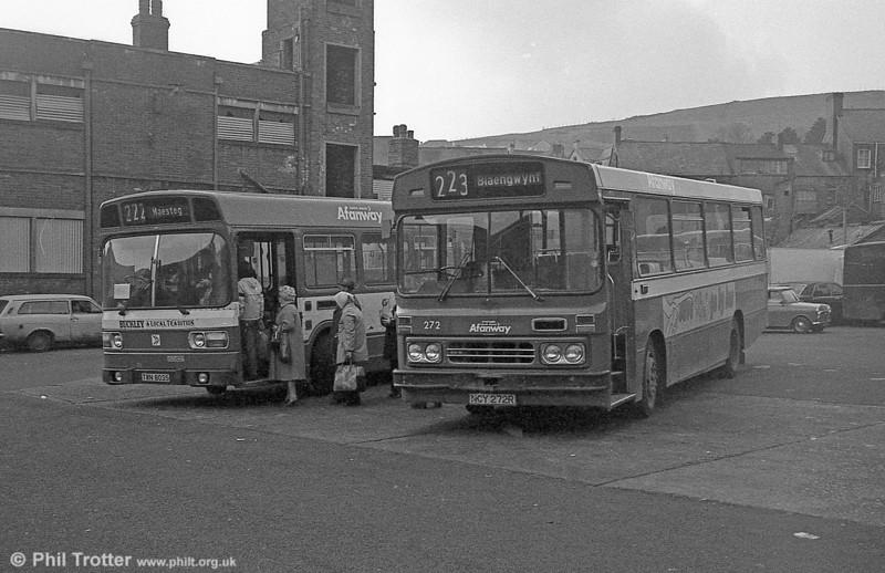 Ford R1014/Duple B43F 272 (NCY 272R) at Maesteg.