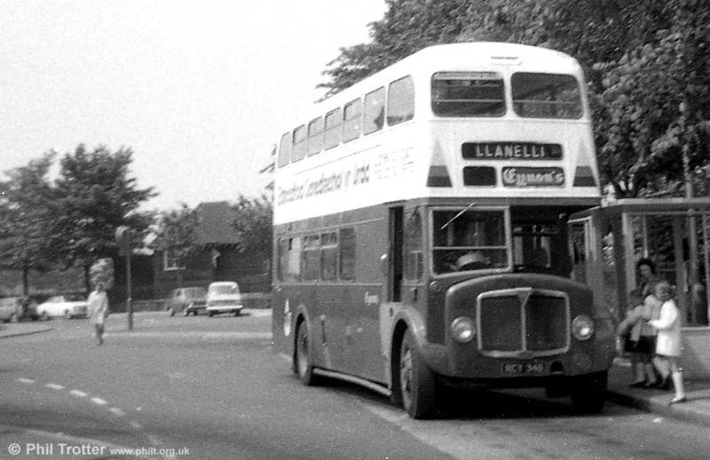 AEC  Regent V/Weymann H39/32F 504 (RCY 346) seen at Llanelli after sale to Eynon's, Trimsaran.