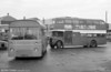 AEC Reliance/Marshall DP41F 209 (KKG 209F) towing bus, ex-Western Welsh with AEC Regent V / Park Royal in tow.