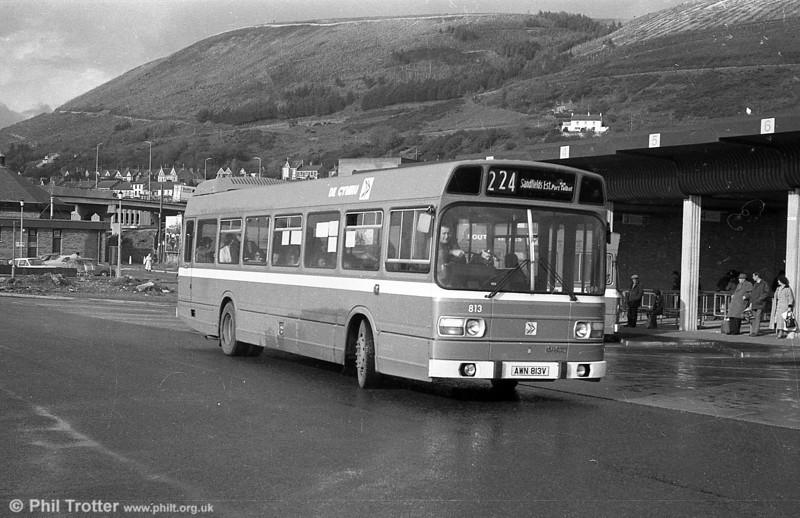Leyland National/B52F 813 (AWN 813V) at Port Talbot.