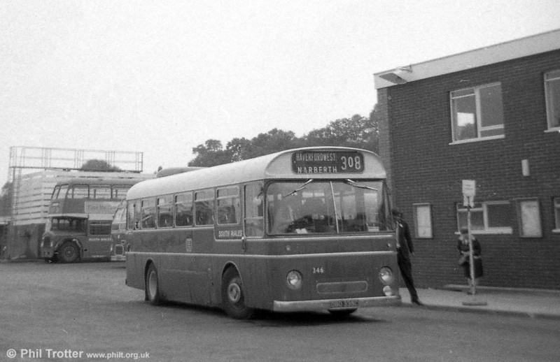 346 (DBO 335C), a Leyland Tiger Cub / Park Royal DP41F , ex-Western Welsh at Haverfordwest.