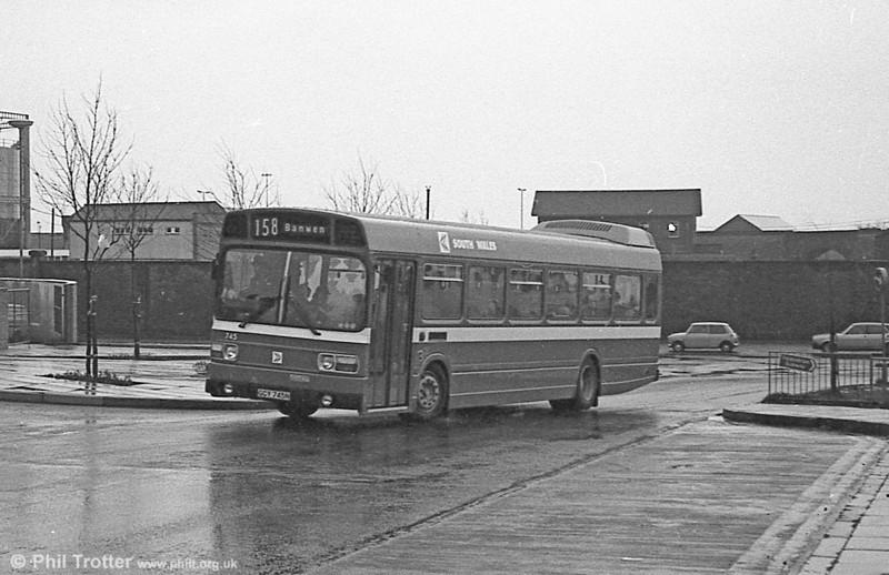 745 (GCY 745N), a Leyland National B52F at Swansea.