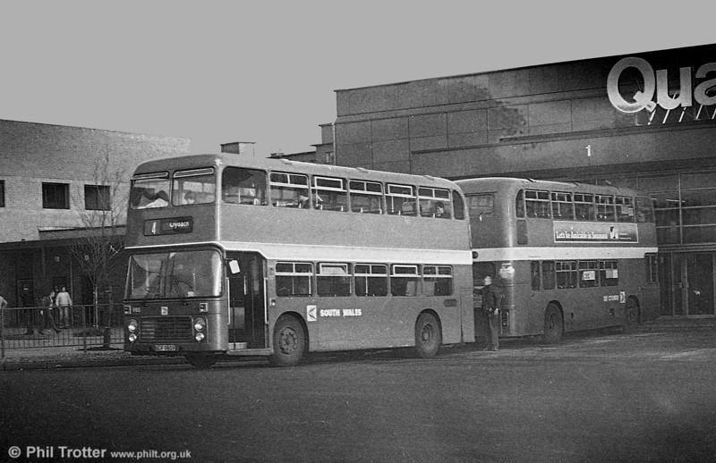 Bristol VRT SL3/ECW H43/31F 980 (BEP 980V) at Swansea.