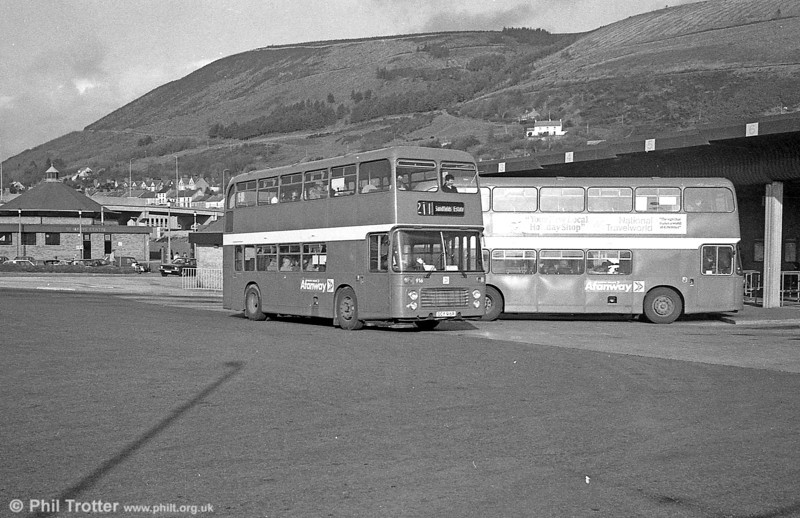 Bristol VRT/ECW H43/31F 916 (OCY 916R) at Port Talbot.