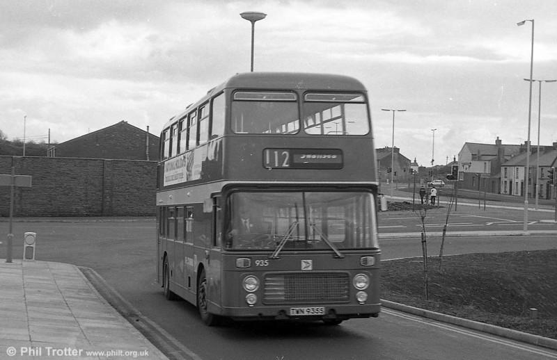Bristol VRT SL3/ECW CO43/31F 935 (TWN 935S) at Swansea.