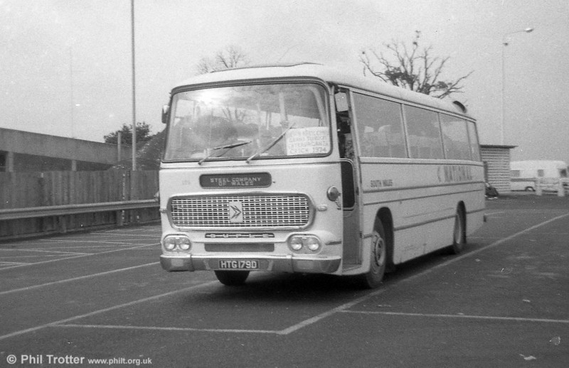 126 (HTG 179D ) an AEC Reliance 4MU3RA / Duple (Northern) C41F, ex Thomas Bros., Port Talbot.