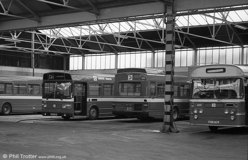 Leyland National B52F 821 and 824 (NFN 63/70M), ex-East Kent 1063/70 at Gorseinon.