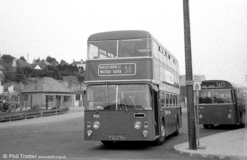 Leyland Atlantean/Northern Counties H41/32F 903 (PKG 375H) at Haverfordwest.