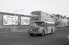 AEC Regent V/Willowbrook H37/27F 830 (GWN 858D) near Swansea Guldhall on 28th July 1973.