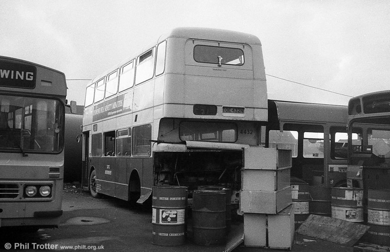 Used only for spares was TOE 432N, a Bristol VRT/MCW H43/31F, ex-West Midlands PTE 4432 at Ravenhill.