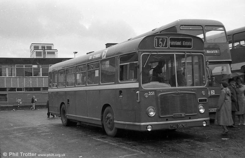 351 - Ex Bristol 511- (THU 357G), a Bristol RESL6L /ECW B43F.