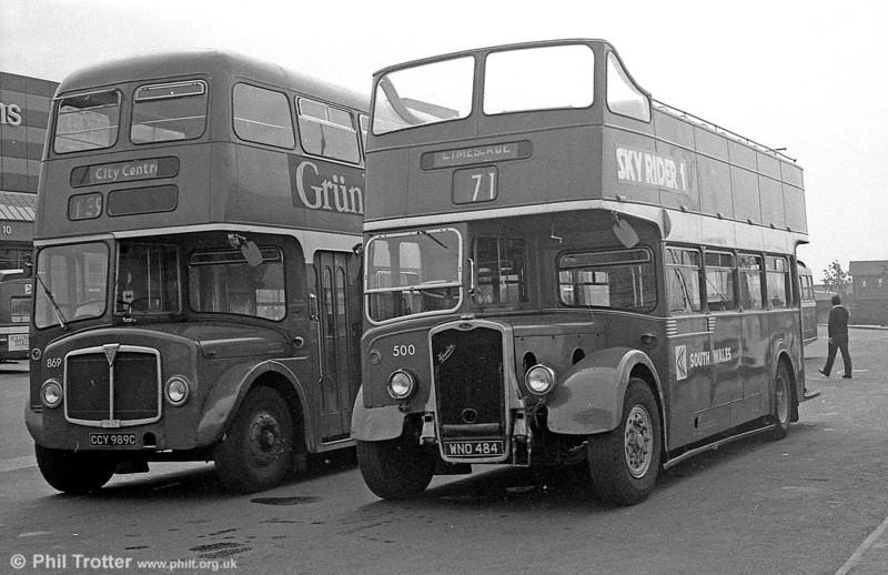 1953 Bristol KSW5G/ECW O33/28R 500 (WNO 484) at Swansea.