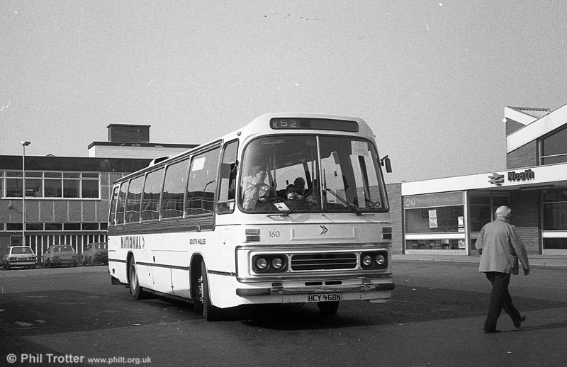 AEC Reliance/Duple DP51F 160 (HCY 468N) at Neath.