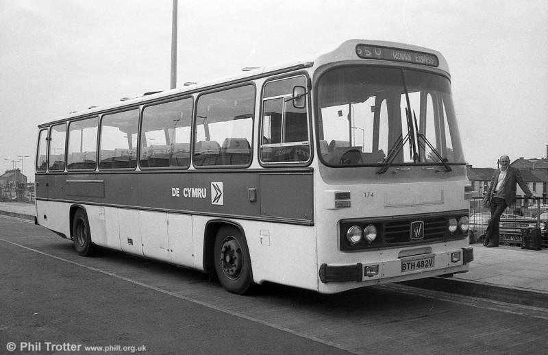 174 (BTH 482V), a Leyland Leopard/Willowbrook DP51F.