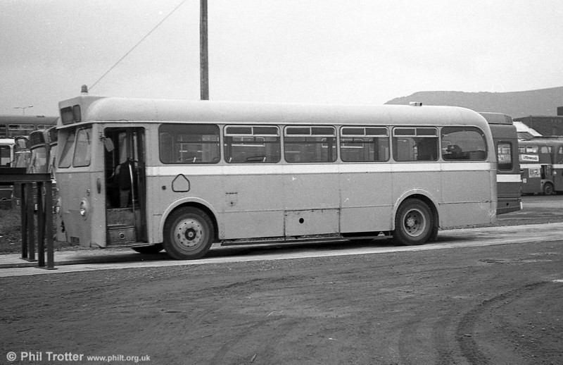 16 HTG was a 1960 LeylandTiger Cub/Metro Cammell B45F which had originated with Thomas Bros., and which assumed fleet number 319 at the merger. It later became a towing bus, being numbered 14.