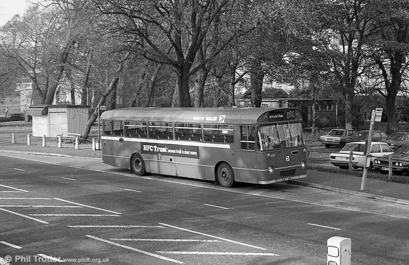 AEC Reliance/Willowbrook B53F 429 (ex-1950) (NCY 281F) on Swansea Park & Ride.