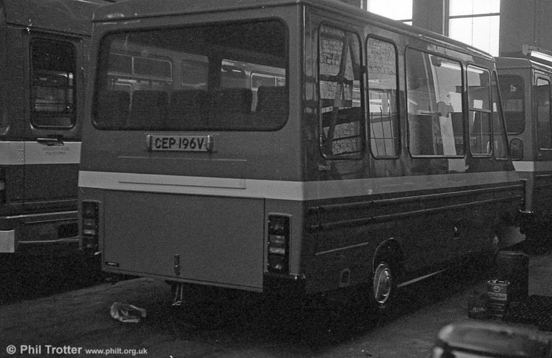 Seen at Ravenhill shortly after delivery in early 1980 are 96/7 (CEP 196/7V), Bedford CFs with Reebur B17F bodies which were to the replace the ex-Oxford Ford Transits 98/9 (NWL 704M, VYM 502M) on the 'Gower Pony' service. The pair entered service during the week ending 23rd February.
