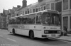 108 (LCY 108X), a 1981 Leyland Leopard/Willowbrook 003 C49F at Cardiff.