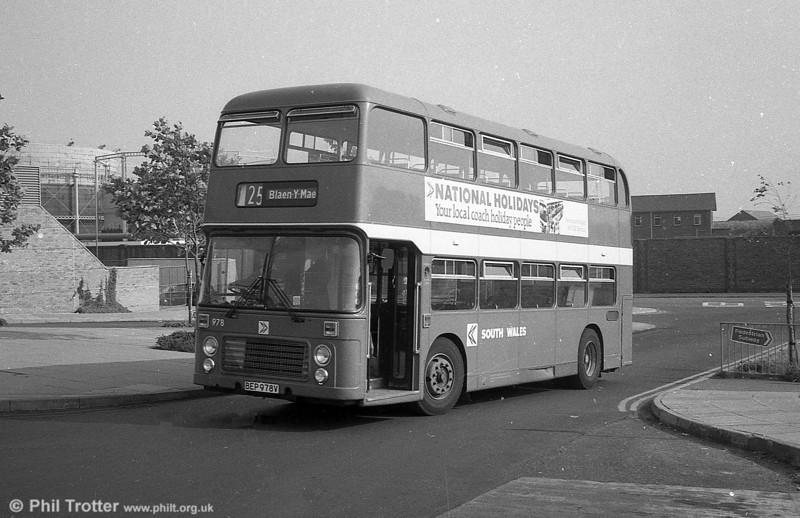 Bristol VRT SL3/ECW H43/31F 978 (BEP 978V) at Swansea.