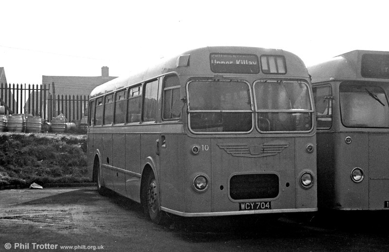 Staff bus 10 (WCY 704) was a Bristol MW6G / ECW B45F new to United Welsh (126) and latterly SWT 384.
