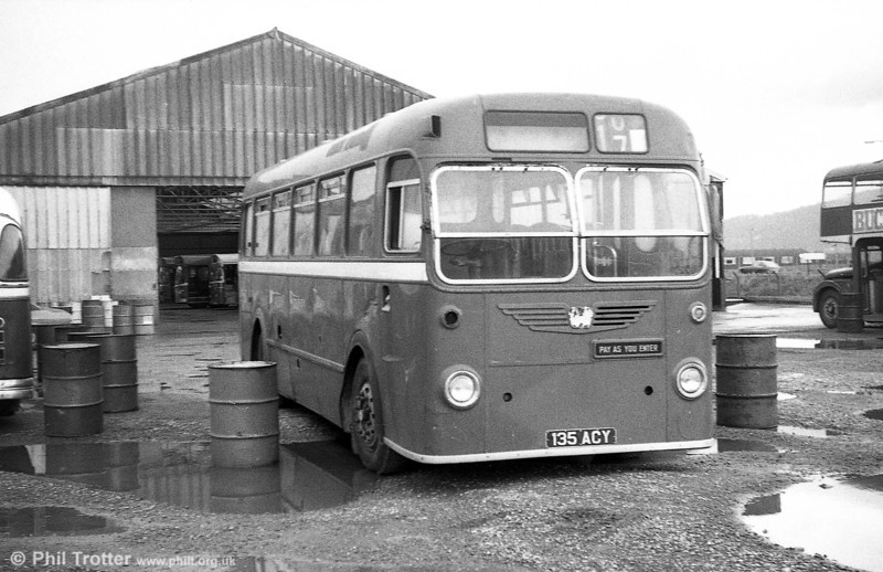 Former 387 (135 ACY), Bristol MW5G / B45F awaiting disposal at Port Talbot. This was originally with United Welsh Services Limited, Swansea (127).