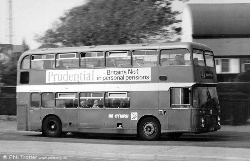 Bristol VRT 985 (BEP 985V) with ECW H43/31F at St. Helens.