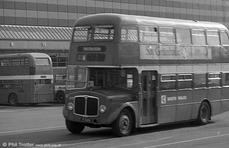 AEC Regent V/Willowbrook H39/32F 575 (15 BWN) at Swansea.