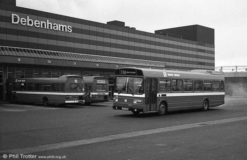 Leyland National B52F 823 (NFN 66M), ex-East Kent 1066 at Swansea.