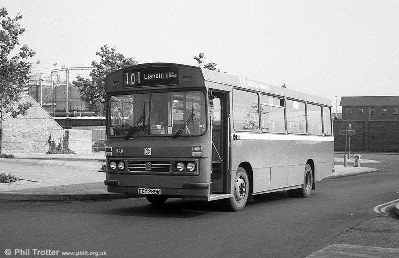 1981 Bedford YMQ/Duple B43F 289 (FCY 289W).