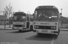 103 and 107 (LCY 103/7X), 1981 Leyland Leopards/Willowbrook 003 C49F at Swansea.