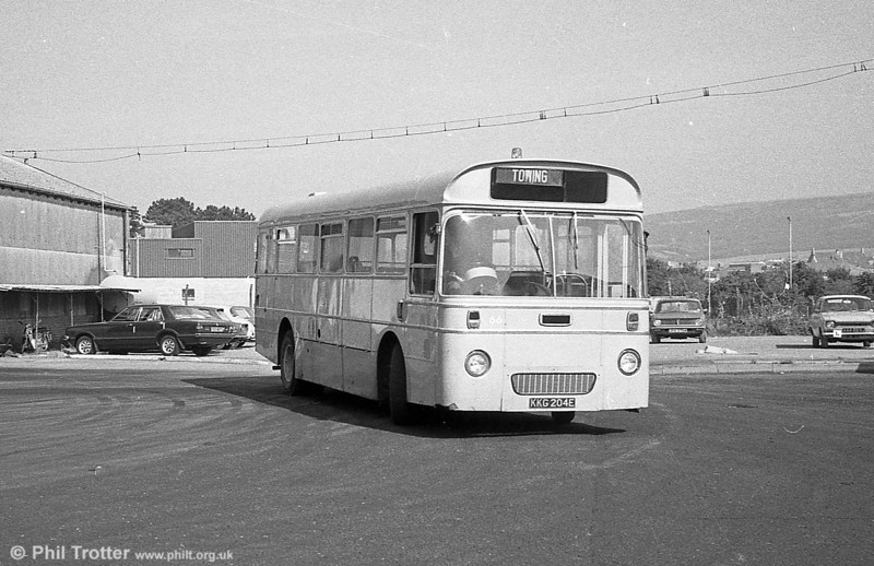 AEC Reliance/Marshall DP41F 204 (KKG 204F) towing bus, ex-Western Welsh.