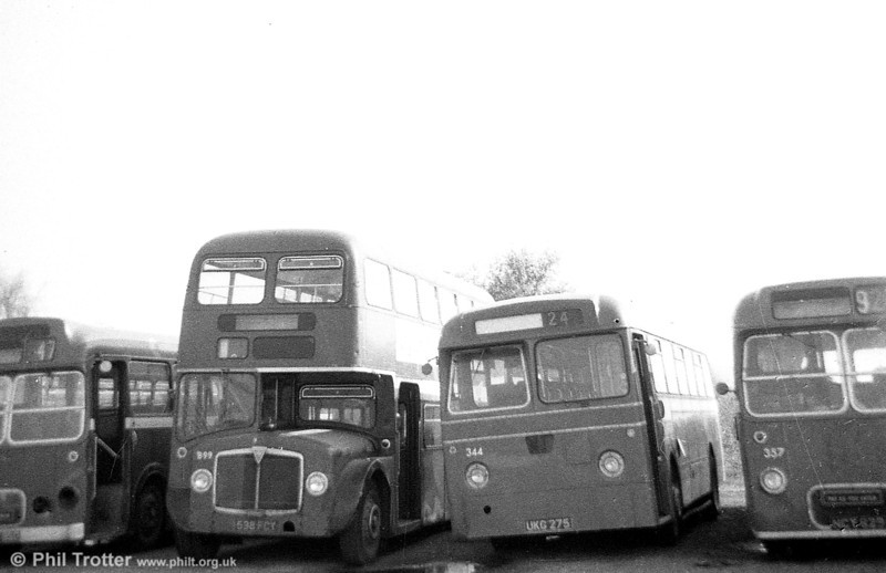 AEC Renown/Willowbrook H39/32F 899 (ex 1258) (538 FCY) seen on the scrap line at Neath Abbey.