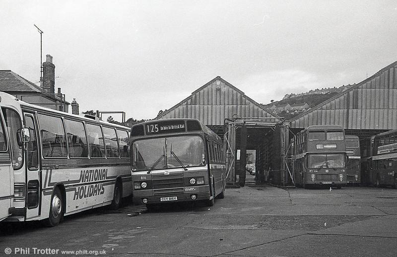 Leyland National 2/B52F 816 (CCY 816V) at Brunswick St.