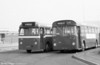 322 (123 NTX) a Leyland Tiger Cub/Alexander B45F and 423 (DNY 133C), an AEC Reliance/Weymann B53F, both ex-Thomas Bros at Port Talbot.