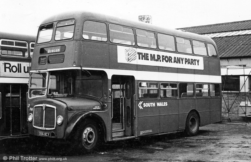 AEC Regent V/Willowbrook H39/32F 561 (996 BCY) in early NBC days at Ravenhill.