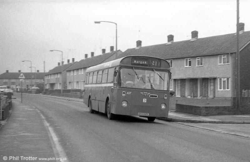 427 (OTX 137F) an AEC Reliance/Marshall B51F, ex-Thomas Bros., Port Talbot.