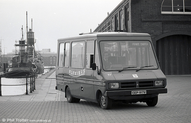 Bedford CF/Reebur DP17F 97 (CEP 197V) with later 'Flexibus' branding.