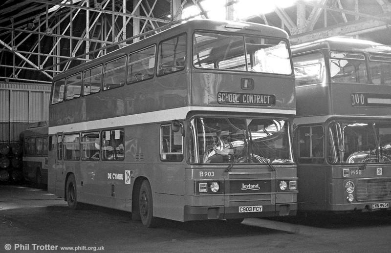 903 (C903 FCY) a 1985 Leyland Olympian/ECW H45/30F at Ravenhill.