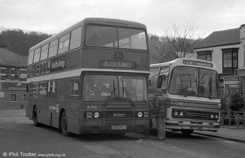902 (C902 FCY) a 1985 Leyland Olympian/ECW H45/30F at Oystermouth.